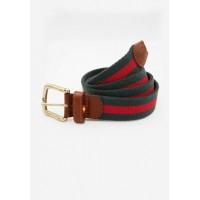 cinturon lona SPAGNOLO verde y rojo