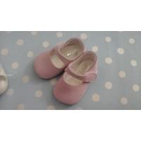 zapato ante rosa palo