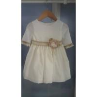 vestido pumeti ceremonia beig  LILUS 24144