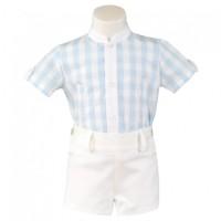 conjunto niño camisa celeste y pantalon MIRANDA 163-23