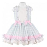 Vestido infantil niña  celeste MIRANDA 0260V