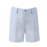 Pantalon corto azul lino MIRANDA 0268-3