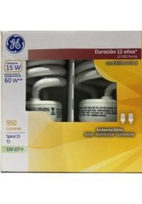 36498 Lámpara Fluorescente Compacta Spiral 15 T2 c/u