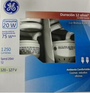 35711 Lámpara Fluorescente Compacta Spiral 20 W c/u